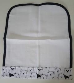 Fralda de boca - Ursinho branco e preto
